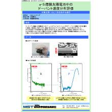 【分析事例】a-Si薄膜太陽電池中のドーパント濃度分布評価