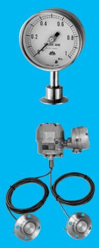 サニタリー圧力計、発信器(食品用)