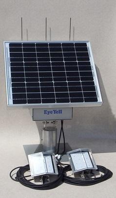 バッテリー搭載式ソーラーLED外灯:循環型社会の事故・防犯対策に