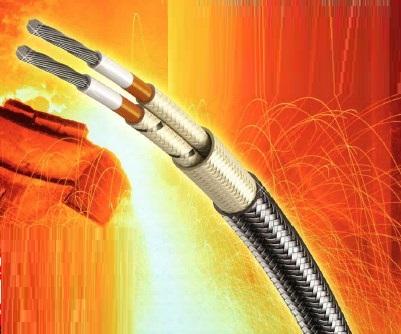 フッ素樹脂被覆&セラミック編組 超耐熱電線『J-TEFU』
