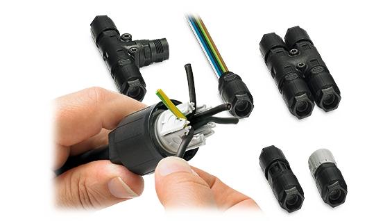 特殊工具が不要!電源分岐・中継用コネクタ『QPDシリーズ』