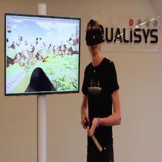 VR,AR 仮想現実/拡張現実 三次元動作解析Qualisys