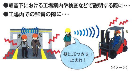 【使用事例 工事内】骨伝導通信システム 「阿吽」