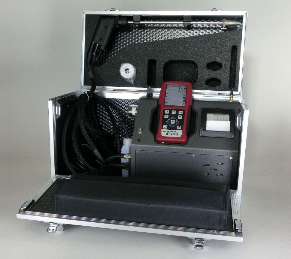 ポータブル燃焼排ガス分析計 ※リモコンで本体操作が可能