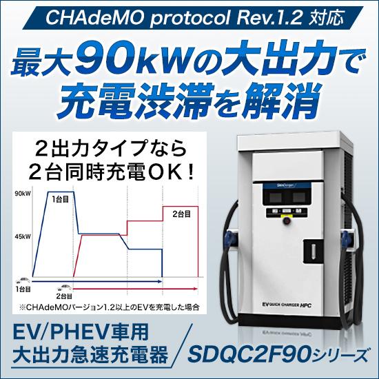 EV/PHEV車用 大出力急速充電器『SDQC2F90シリーズ』 製品画像