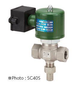 自然冷媒用電磁弁「SC40S」「SC60C」(アンモニア用)