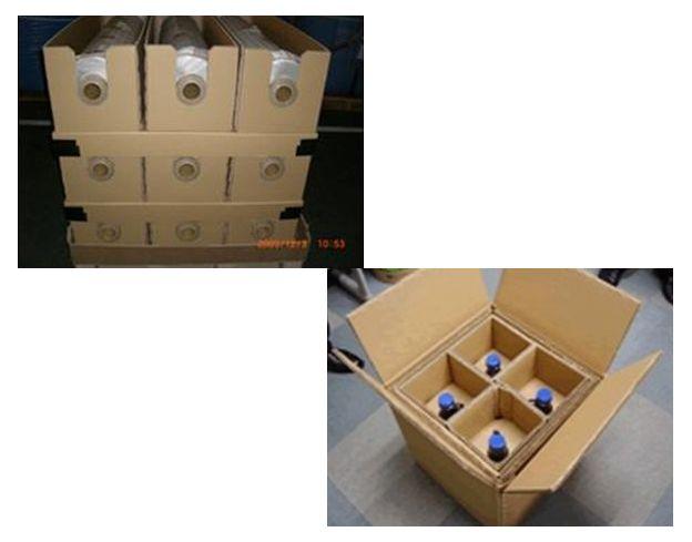 【作業性を改善】フィルムロール集合梱包&危険物容器の設計