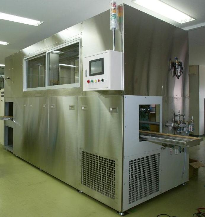 洗浄と乾燥の装置 「レンズ・ガラス基板の水洗浄と乾燥システム」