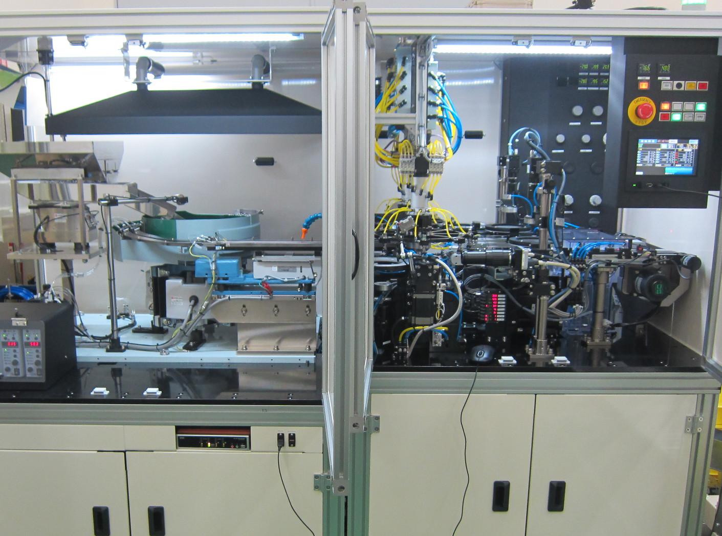円筒部品高速外観検査装置「薄型ブッシュ外観検査装置」