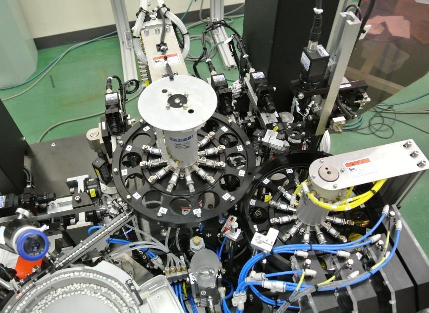 円筒部品外観検査装置「薄型円筒ワーク外観検査装置」