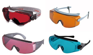 レーザ保護メガネ・遮光保護具