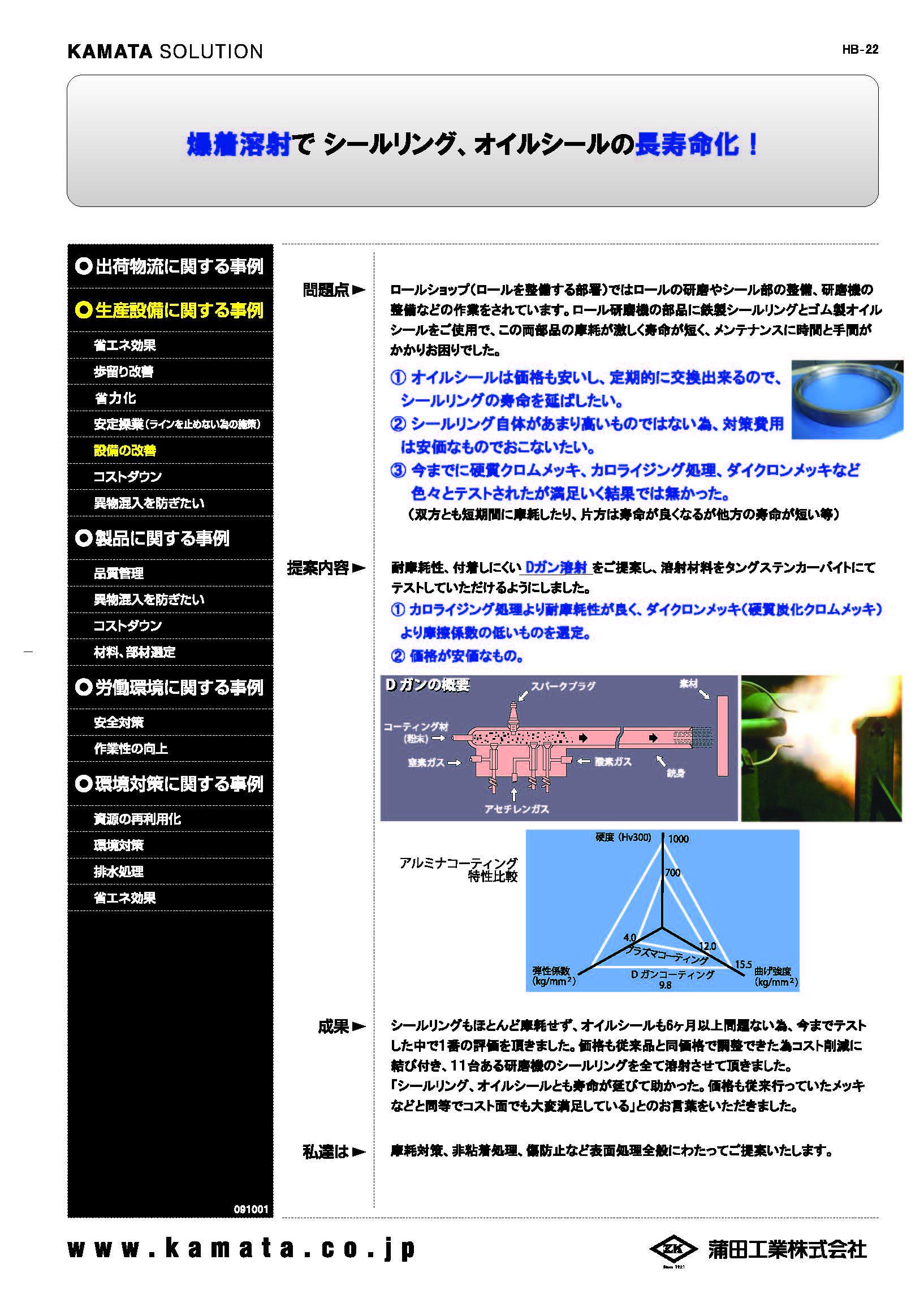 【事例紹介】爆着溶射でシールリング、オイルシールの長寿命化!