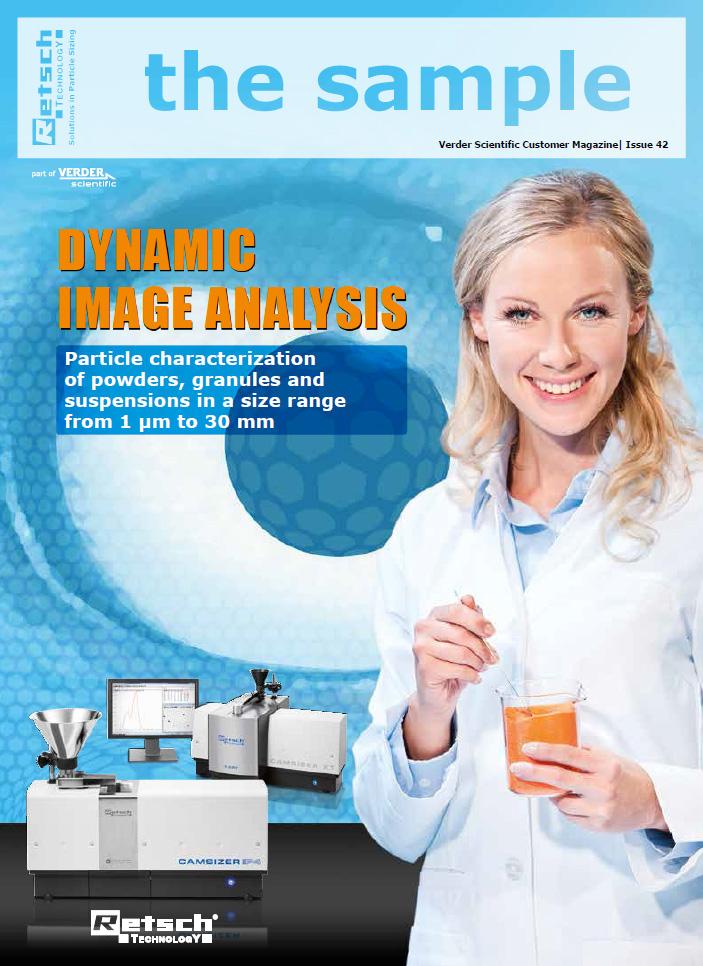 デジタル画像解析式粒度分布測定装置「カムサイザー」情報誌